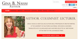 Author Gina B. Nahai's new website