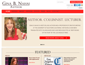 New website for bestselling author Gina B. Nahai