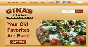 Gina's Pizza of Orange County website