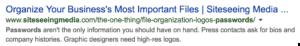 google meta data search example